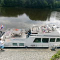 Do you remember this boat from summer? It's from Marina Vltava. 🙂 . . . . . . . . #vltavariver #vltavariverig …
