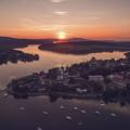 Sunset above Frymburk is really magical 😍 . . . . . . . #vltavariver #vltavariverig #section2ig #southbohemia #lipensko…